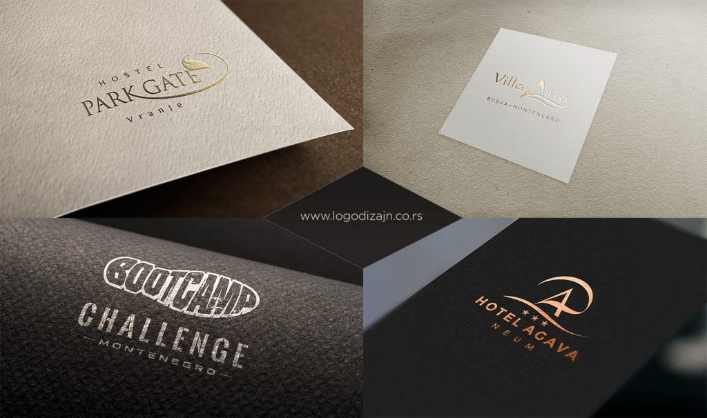 Prezentacija luksuzne primene logotipa
