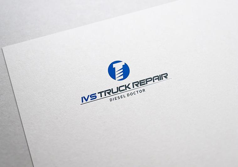 IVS Truck repair logotype design