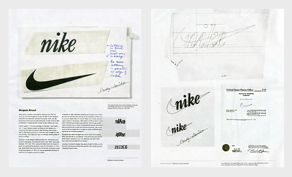 Nike logotip istorija