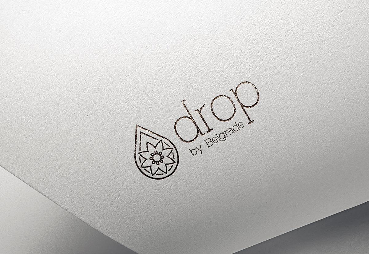 Logo dizajn za Drop by Belgrade kozmeticki salon